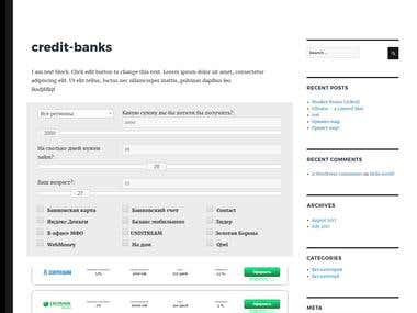 WP Plugin Credit banks