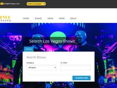 Show Booking website