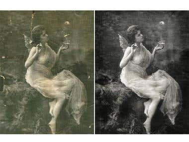photo processing, restoration