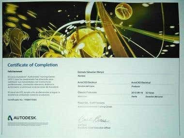 Certificado AutoCAD Electrical