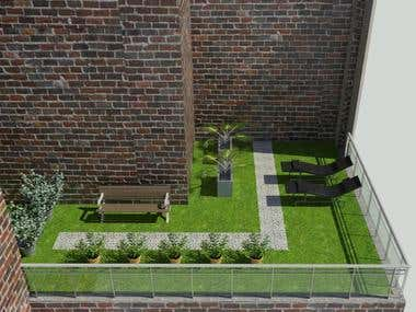 TERRACE_REVIT_3D MODELLING