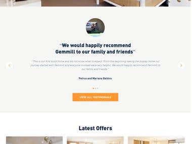 Gemmill Homes - Interior Design Website