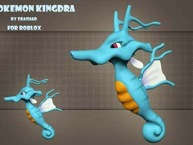 3D Kingdra Pokemon For Roblox Game