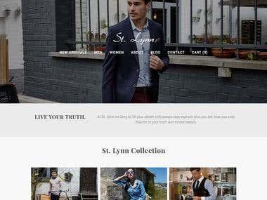 http://www.stlynn.com/ E-Commerce Clothing website