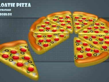 3D Floatie Pizza for Pool Game Element