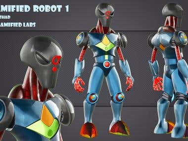 3D Robot for a Game Publisher Co.