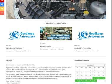 Wordpress Website Car Repair Store
