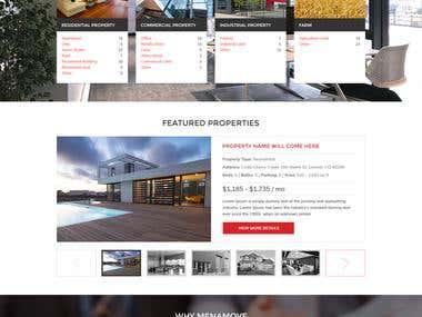 Designed a homepage Mockup