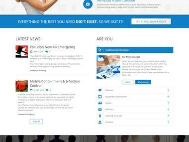 This is a ecomm site on Healthcare products