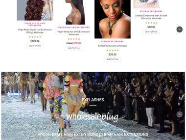 E-comm site - Hair extension products
