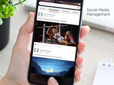 Social Management Tool Mobile App.