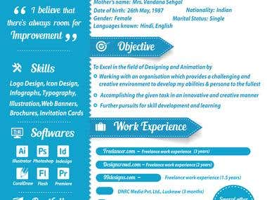 My Resume in an Infographic style.