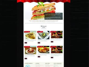 E-commerce restaurant website