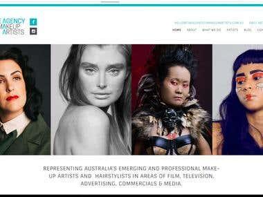 WORDPRESS WEBSITE FOR MAKEUP ARTIST