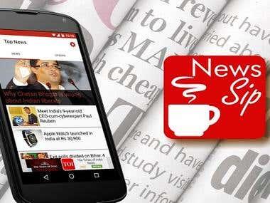 NEWS SIP - ONLINE NEWSPAPER APP