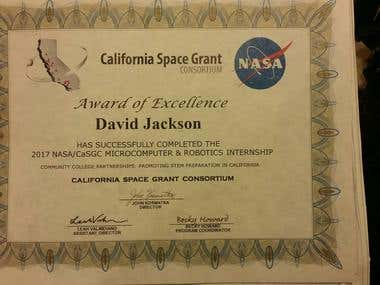 Award of Excellence from NASA
