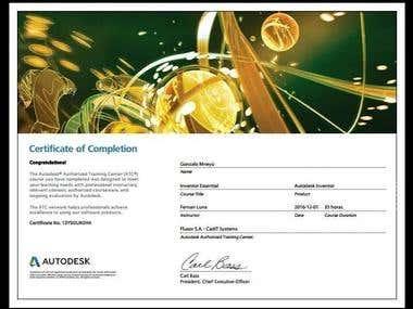 Certificado Autodesk Inventor