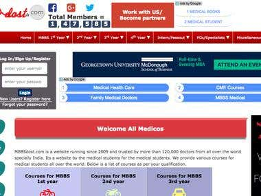 PHP Website - Mbbsdost