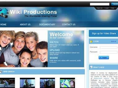 Wikiproduction Video Site.