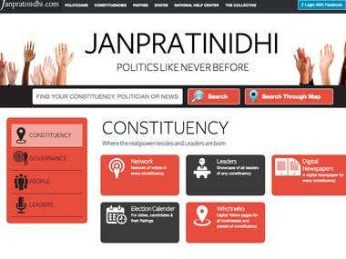 Janpratinidhi - Asp.net website