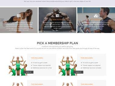Fitness Site With integration paystack payment method