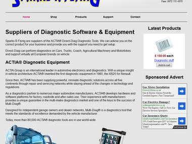Sparks R Flying - Website Redesign