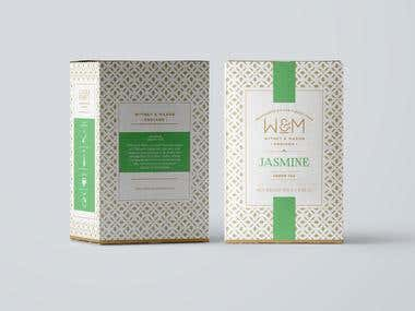 Tea packaing for tea brand based in London