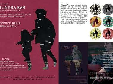 Afiche y programas para obra de teatro