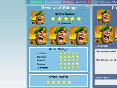 Mobile App development for Rating