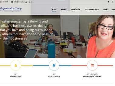 Wordpress website - opportunity group