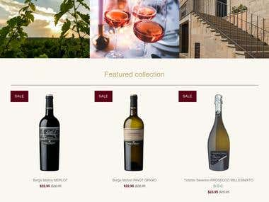Italian wine connection shopify website