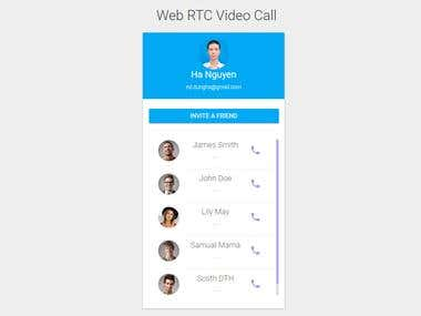 RTC Video call