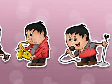 Music - cute - Sticker