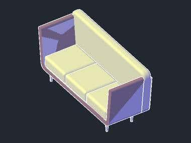 3D AUTO CAD FURNITURE DESIGN