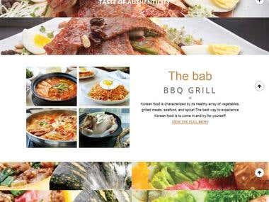 Thebabkorean (Restaurant Website)