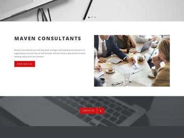 Mavenconsultants(wordpress site)
