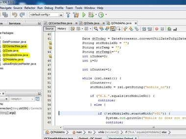 My work in Java