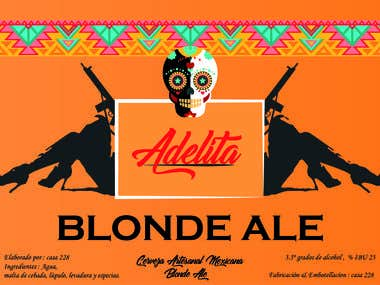 Adelita beer label