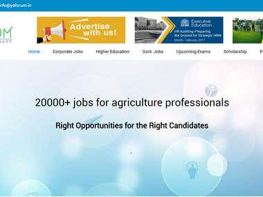 Website for Agribusiness Forum
