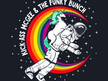 Kick-ass McGee and The Funky Bunch logo design