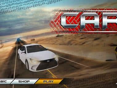 Car GameUI - 3D game