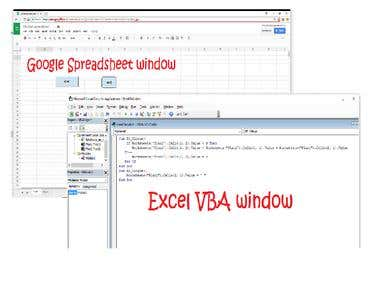 Convert Excel VBA to Google sheet