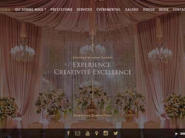 Boudinar Wedding Planner Website