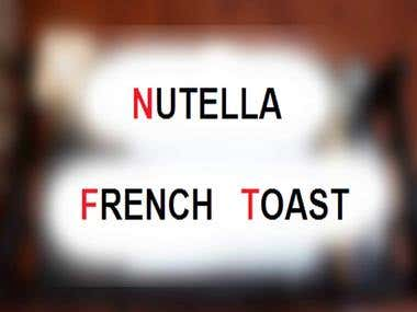 Food Videograohy - Nutella French Toasts