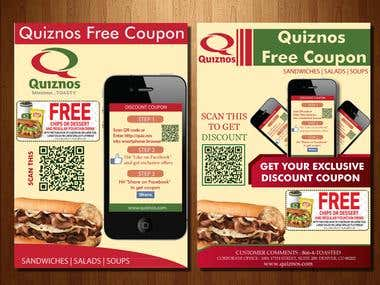 Flyer Design For Quiznos