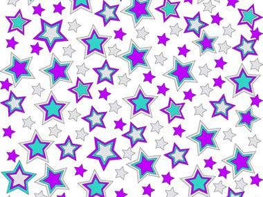 Girly Banner With Stars