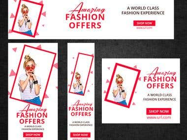 Web banner design set