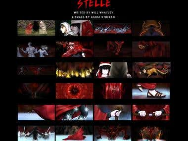 "STORYBOARD AND VISUALS  for ""stelle"""