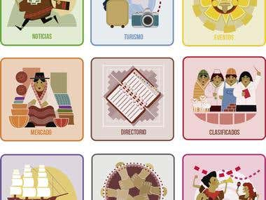 Flat Icons - Latinoamérica