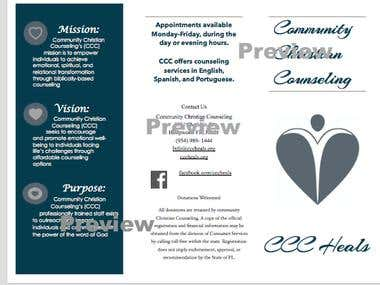 Marketing Pamphlet for Counseling Center